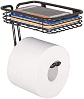 mDesign Wall Mounted Toilet Paper